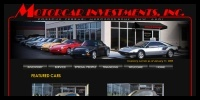 Image of Motorcar Investments web site